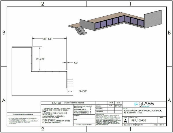 Black Solid Balcony Project Specifications