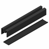 Glass Railing Bottom Rail Element & Solid - Black