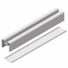 Glass Railing Bottom Rail Element & Solid - White