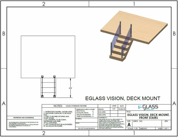 Silver Vision Front Staircase Project Specifications