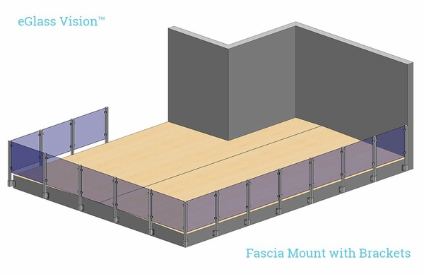 Render of Vision system using fascia mount with brackets.