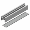 Glass Railing Bottom Rail Picket - Silver