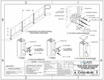 eGlass Vision� System Drawings - Fascia Mount for Stairs