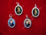 Divine Mercy - St. Faustina Colored Medal - Simple