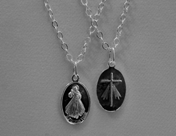 Divine Mercy Sterling Silver Medal