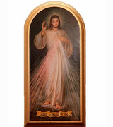 Divine Mercy Image on Wood - Small