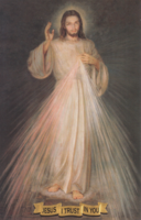Large Divine Mercy Image - English