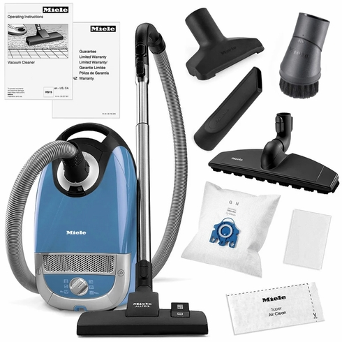 Miele Complete C2 Hard Floor Canister Vacuum Cleaner (Tech Blue)