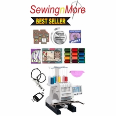 Janome MB-7 Seven-Needle Embroidery Machine w/ Exclusive Platinum Series Embroidery Package!