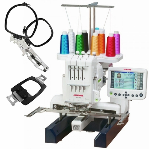 Janome MB4S Home Use 4-Needle Embroidery Machine w/ Free Bonus Package!