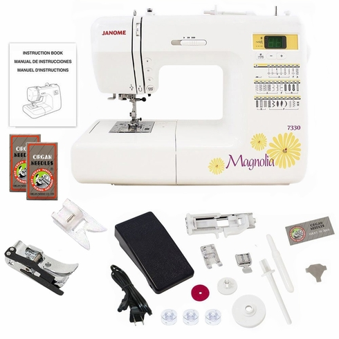 Janome 7330 Magnolia Computerized Sewing Machine w/ Free Bonus Package!