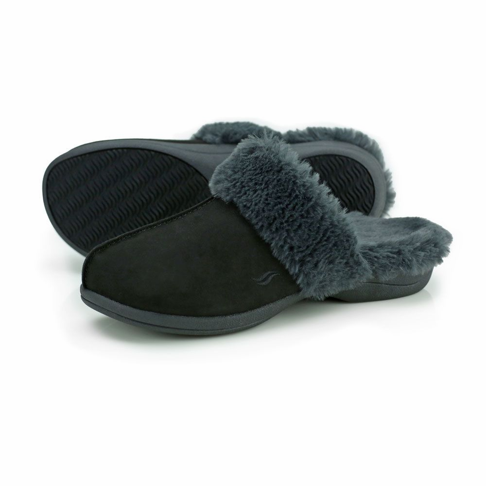 Powerstep Luxe Orthotic Slippers Black