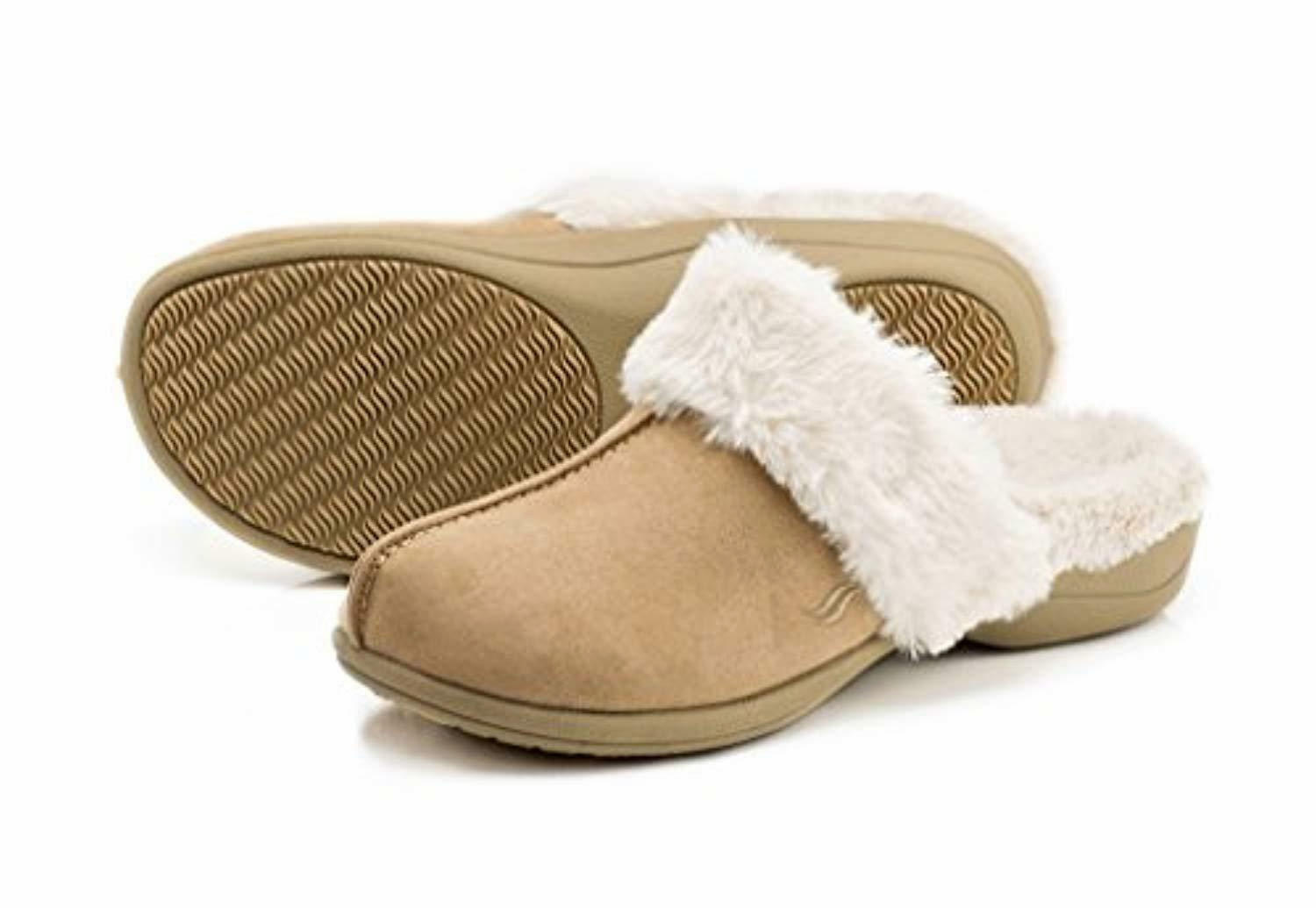 Powerstep Luxe Orthotic Slippers Taupe