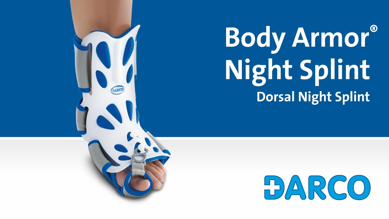 Body Armor� Night Splint - Dorsal Night Splint for plantar fasciitis, heel spurs