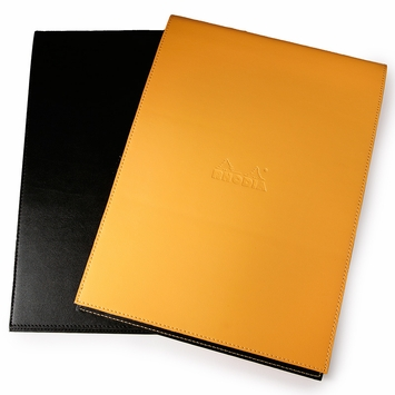 Rhodia Leatherette No. 18 Notepad Holder (8.25 x 11.75) in Orange