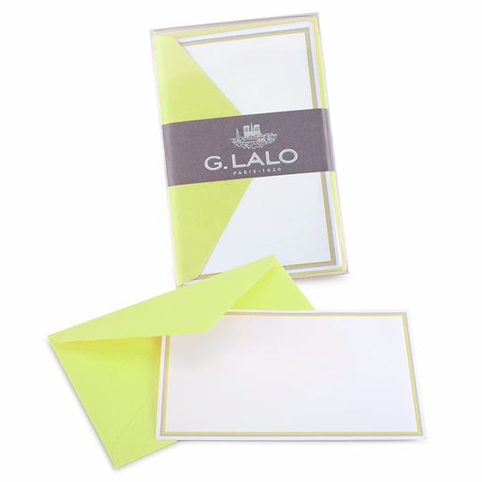 G. Lalo Double Bordered Correspondence Sets (3.25 x 5.25) ( Anis )