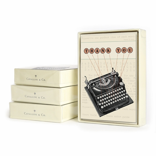 Cavallini Boxed Thank You Notecards (3.75 x 5.25) ( Typewriter Thank You )