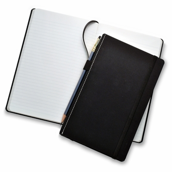 Fabio Ricci Goran Medium Hard Cover Notebook (5 x 8.25 in.) in Black