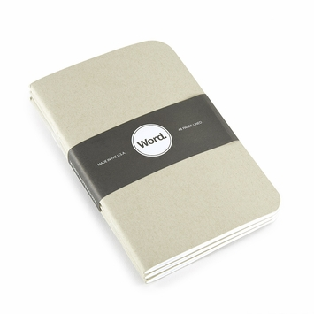 Word Pocket Ruled Notebook (Set of 3) (3.5 x 5.5) in Black