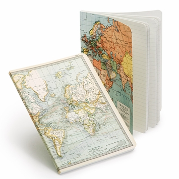 Cavallini Vintage Maps Large Notebook Set (5.5 x 7.25)