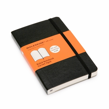 Moleskine Classic Pocket Soft Cover Ruled Notebook (3.5 x 5.5)