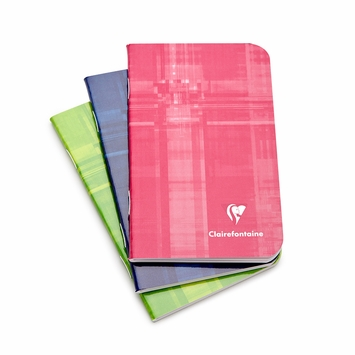 Clairefontaine Classic Mini Side Staple Bound Notebook (3 x 4) in Ruled (lined pages) [3586]