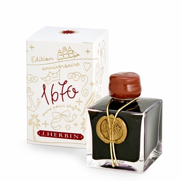 J. Herbin 1670 Anniversary Collector Edition Ink & Gift Box in Hematite Red