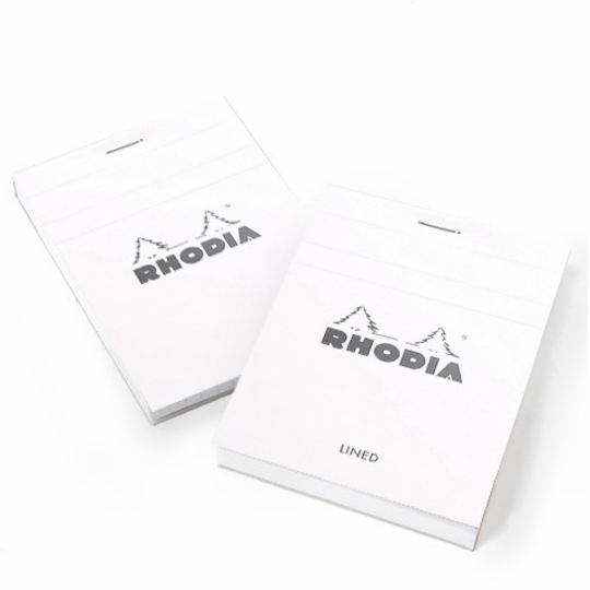 Rhodia ICE Top Staple Bound No.12 Notepad (3.375 x 4.75) ( White )