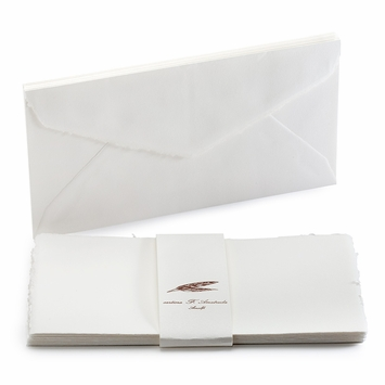 Amalfi Long Folded Note Cards with Envelopes (8 ct) (4.25 x 8)