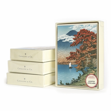 Cavallini Blank Boxed Note Cards (3.75 x 5.25) in Japanese Woodblocks