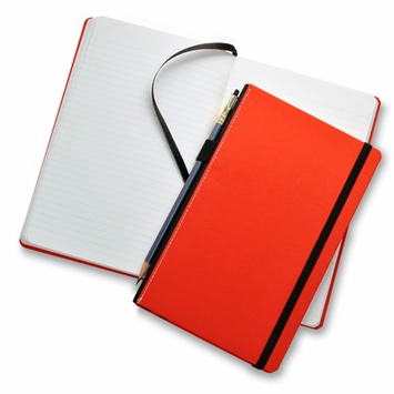 Fabio Ricci Goran Medium Hard Cover Notebook (5 x 8.25 in.) in Red