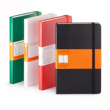 Moleskine Classic Large Hard Cover Notebook (5 x 8.25) in Black