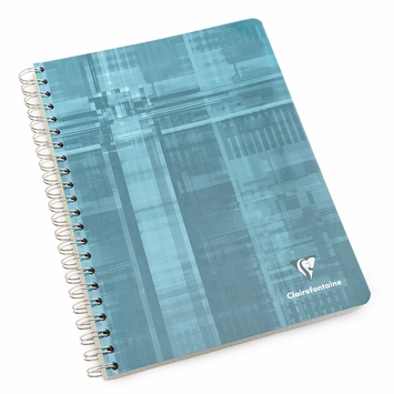 Clairefontaine A4 Side Spiral Bound Notebook: Multiple Subjects (8.25 x 11.75) in Graph (Squared pages) [8139]