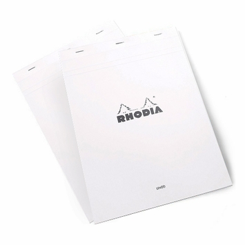 Rhodia ICE Top Staple Bound No.18 Notepad (8.25 x 11.75) in White