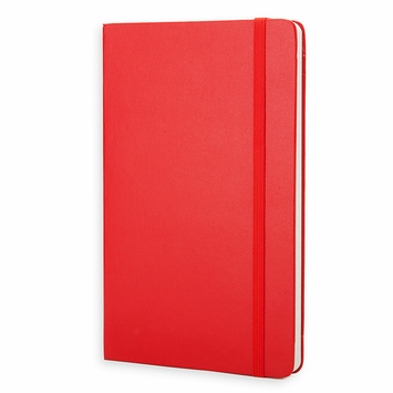 Moleskine Classic Large Hard Cover Notebook (5 x 8.25) in Scarlet Red