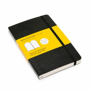 Moleskine Classic Pocket Soft Cover Squared Notebook (3.5 x 5.5)