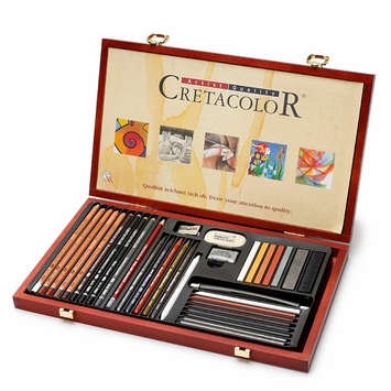 Cretacolor Wood Box Ultimo Drawing Set (Set of 36)