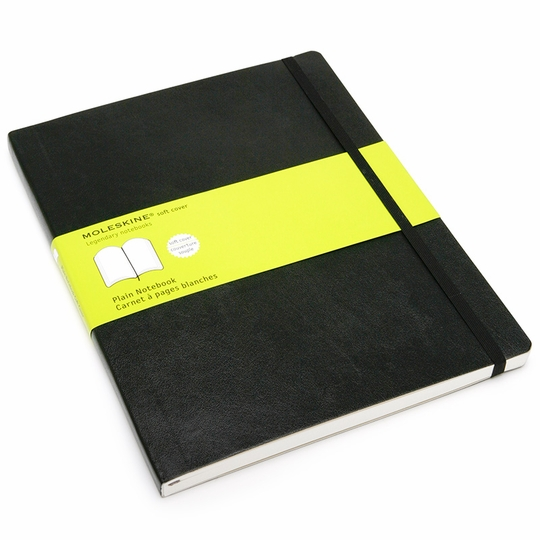 Moleskine Classic Extra Large Soft Cover Plain Notebook (7.5 x 10)