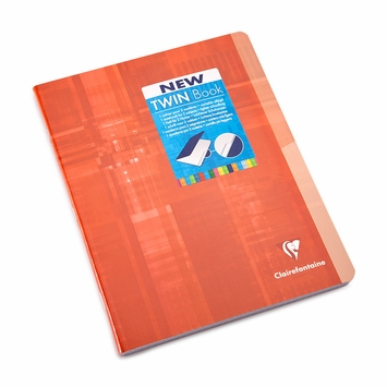 Clairefontaine Large Side Staple Bound Twin Notebook With Two Subjects (6.75 x 8.75) in Graph (squared pages) [63642]