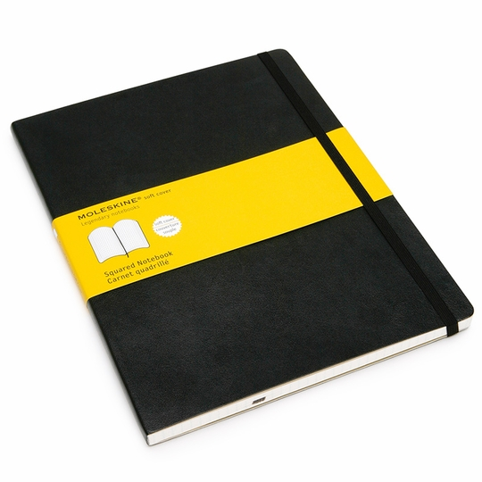 Moleskine Classic Extra Large Soft Cover Squared Notebook (7.5 x 10)