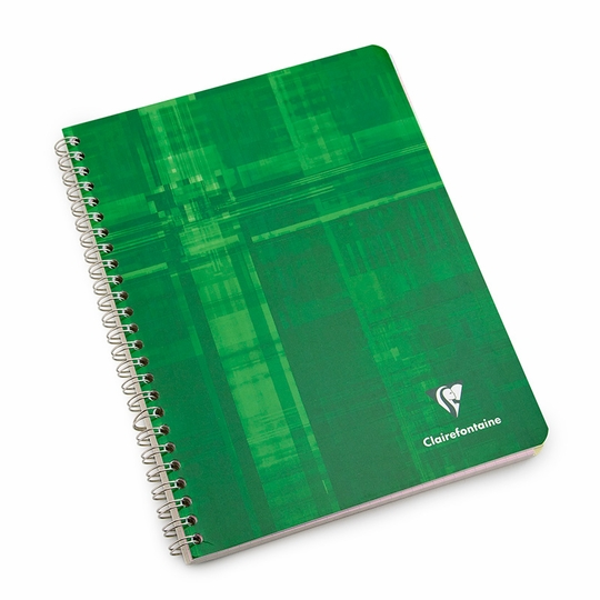 Clairefontaine Large Side Spiral Bound Notebook: Multiple Subjects (6.75 x 8.75) ( Graph (squared pages) [8959] )