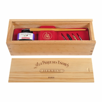 Herbin Calligraphy Wooden Box Set