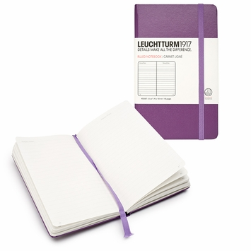Leuchtturm1917 Pocket Hard Cover Notebook (3.5 x 6) in Purple