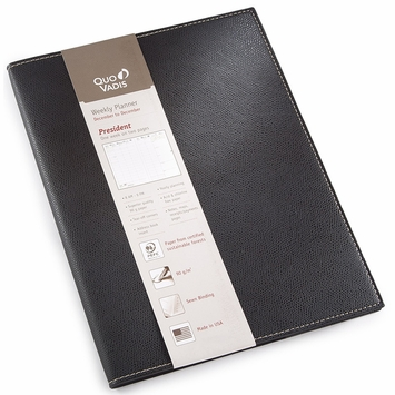 Quo Vadis 2021 Club President Planner (8.25 x 10.5) in Black