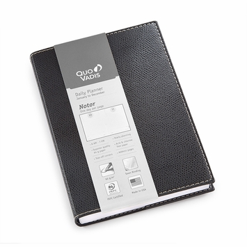 Quo Vadis 2021 Club Notor Planner (5 x 7) in Black