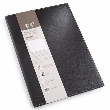 Quo Vadis 2021 Club Prenote #24 Planner (8.25 x 11.625) in Black