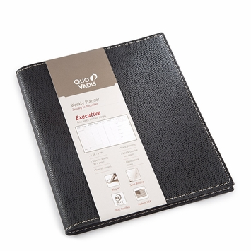 Quo Vadis 2022 Executive Weekly Planner with Club Cover (6.25 x 6.25) Black