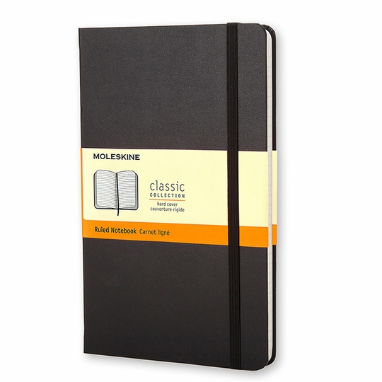 Moleskine Classic Large Hard Cover Notebook (5 x 8.25) ( Black )
