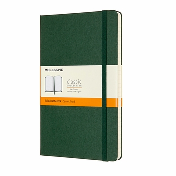 Moleskine Classic Large Hard Cover Notebook (5 x 8.25) in Myrtle Green