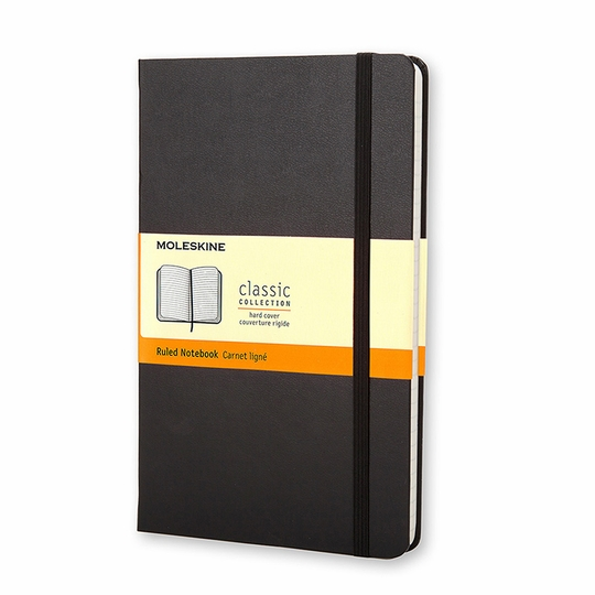 Moleskine Classic Pocket Hard Cover Notebook (3.5 x 5.5) ( Black )
